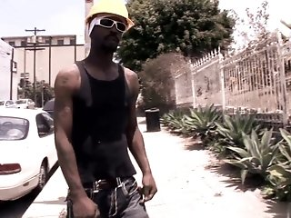 Black Stud With A Helmet Penetrates White Boys Asshole