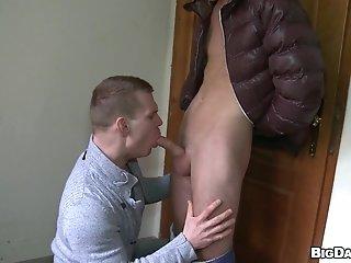 Drago Lembeck And Tony Ross Make Gay Love Near A Lift