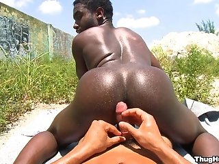 Romero And K Fierce Make Gay Love In Cowboy Position Outdoors