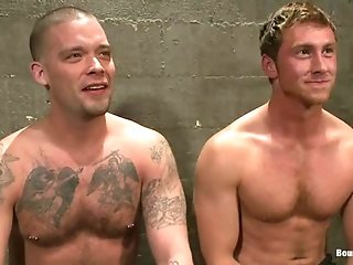 A Gay Stud Gets Whipped And Fucked By Horny Poofter In A Jail