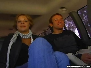 Redhead Gay Daddy Takes A Ride On A Prick In A Car