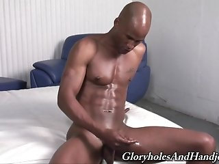 Blonde Twink Ricky Diaz Pleases His Black Bf With A Handjob
